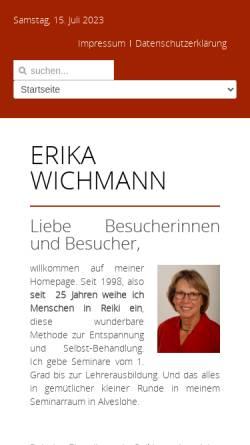 Vorschau der mobilen Webseite www.erika-wichmann.de, Wichmann, Erika