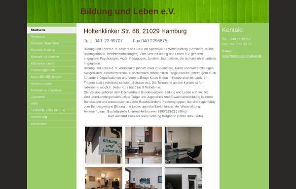Vorschau von bildungundleben.jimdo.com, Bildung und Leben Hamburg e.V.