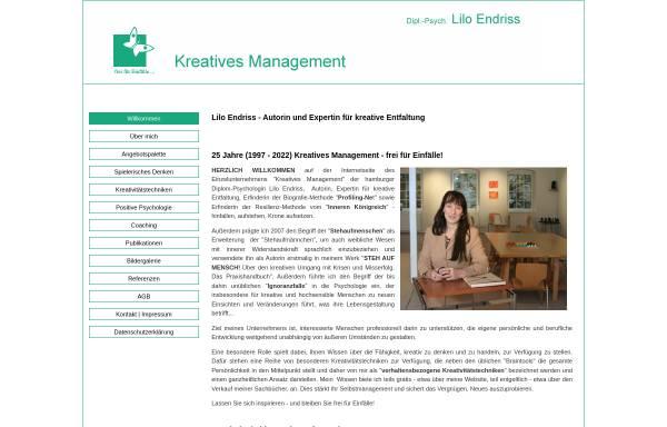 Vorschau von www.kreatives-management-hamburg.de, Kreatives Management - Beratung und Training