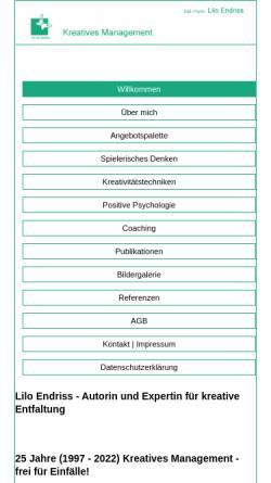 Vorschau der mobilen Webseite www.kreatives-management-hamburg.de, Kreatives Management - Beratung und Training