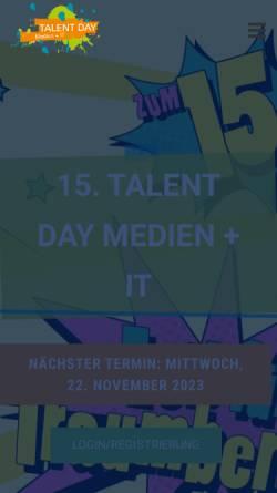 Vorschau der mobilen Webseite www.talentday.de, Service Digitale Arbeit