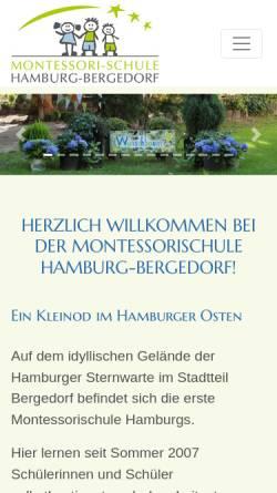 Vorschau der mobilen Webseite www.montessorischule-hamburg.de, Montessori-Schule Hamburg-Bergedorf