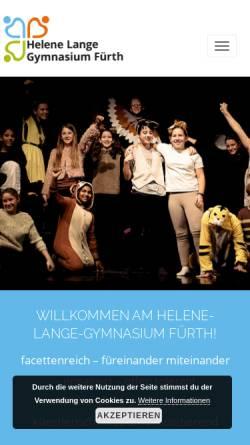 Vorschau der mobilen Webseite hlg-fürth.de, Helene-Lange-Gymnasium Fürth