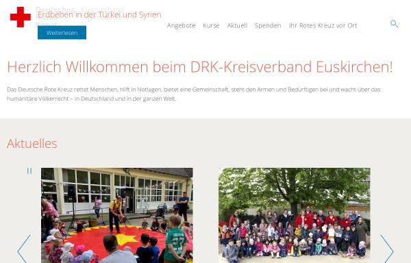 Vorschau von www.drk-eu.de, Deutsches Rotes Kreuz Kreisverband Euskirchen e.V.