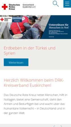 Vorschau der mobilen Webseite www.drk-eu.de, Deutsches Rotes Kreuz Kreisverband Euskirchen e.V.