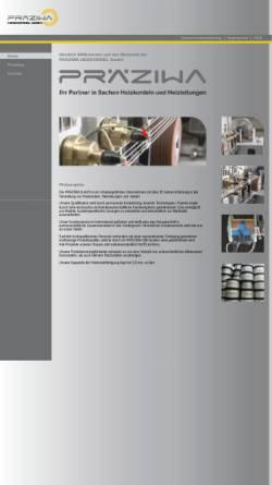 Vorschau der mobilen Webseite www.praeziwa.de, Präziwa Heizkordel GmbH