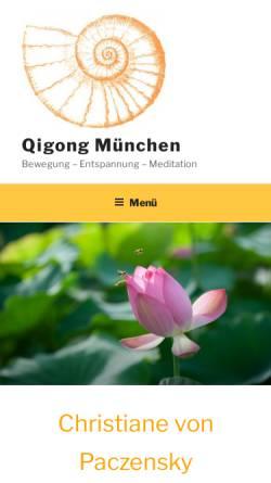 Vorschau der mobilen Webseite qigong-muenchen.de, Christiane v. Paczensky