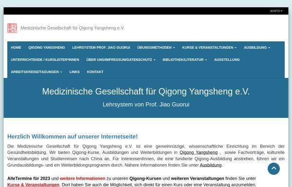 Vorschau von qigong-yangsheng.de, Medizinische Gesellschaft für Qigong Yangsheng e. V.