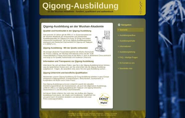Vorschau von www.qigong-ausbildungen.de, Qigong-Ausbildung WIA e.V.