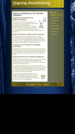 Vorschau der mobilen Webseite www.qigong-ausbildungen.de, Qigong-Ausbildung WIA e.V.