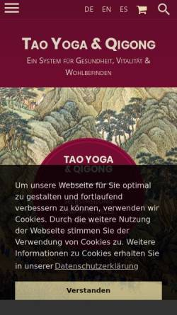 Vorschau der mobilen Webseite tao-yoga.com, Tao Yoga & Qi Gong,