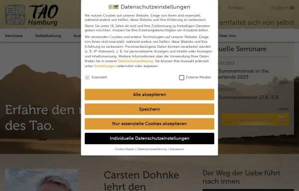 Vorschau von www.tao-hamburg.com, Tao-Hamburg, Carsten Dohnke