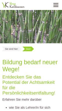 Vorschau der mobilen Webseite vera-kaltwasser.de, Vera Kaltwasser