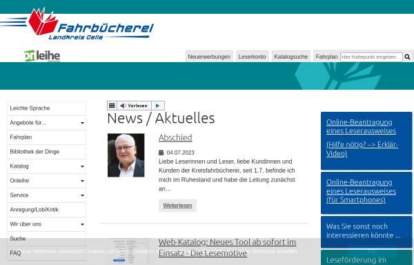 Vorschau von www.kreisfahrbuecherei-celle.de, Fahrbücherei Landkreis Celle