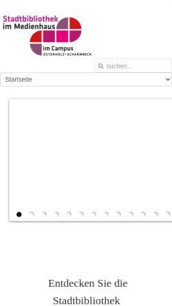 Vorschau der mobilen Webseite www.bibliothek-ohz.de, Kreis- und Stadtbibliothek Osterholz-Scharmbeck