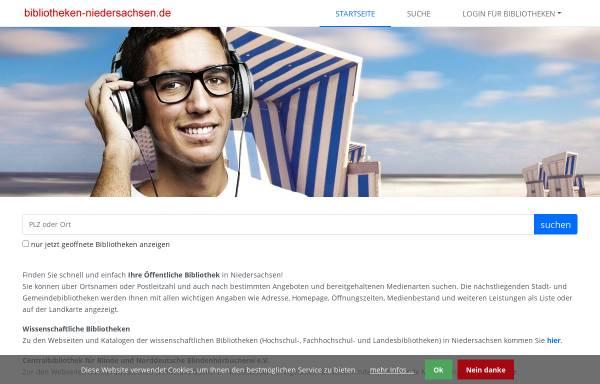 Vorschau von www.bibliotheken-niedersachsen.de, Öffentliche Bibliotheken in Niedersachsen