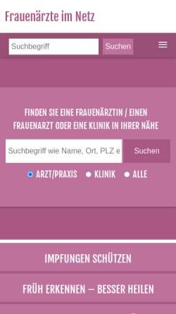 Vorschau der mobilen Webseite www.frauenaerzte-im-netz.de, Vulvakrebs