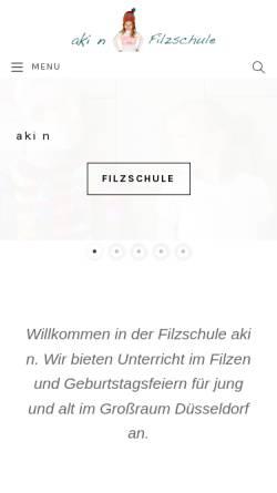 Vorschau der mobilen Webseite www.aki-filz.de, Aki N. Filzarbeiten