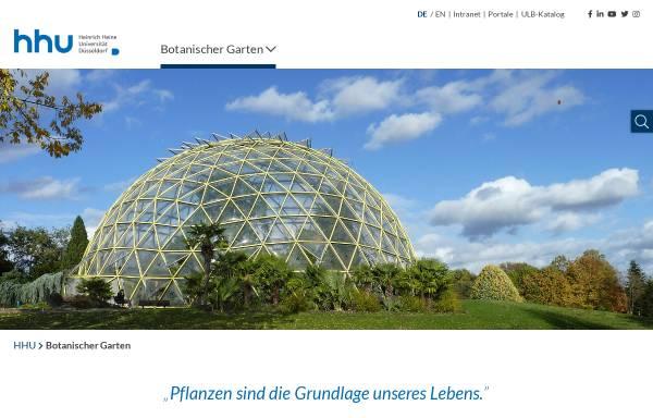 Vorschau von www.botanischergarten.hhu.de, Botanischer Garten der Universität