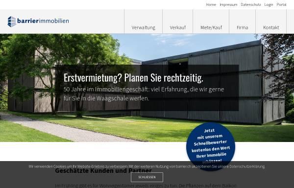 Vorschau von www.barrier.ch, Barrier Immobilien AG