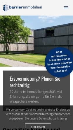 Vorschau der mobilen Webseite www.barrier.ch, Barrier Immobilien AG