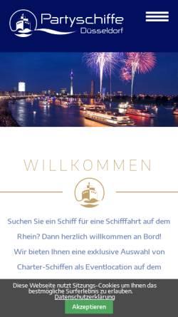 Vorschau der mobilen Webseite www.partyschiffe.com, Immobilien Schiffe Dienstleistungen GmbH