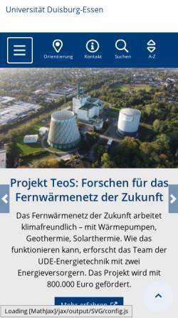 Vorschau der mobilen Webseite www.uni-duisburg.de, Deutsch-japanische Beziehungen