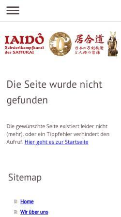 Vorschau der mobilen Webseite www.iaidokai.de, Iaidokai