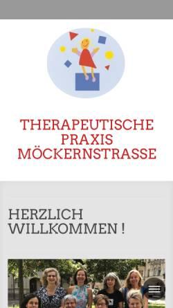 Vorschau der mobilen Webseite www.theramoeck.de, Therapeutische Praxis Möckernstraße