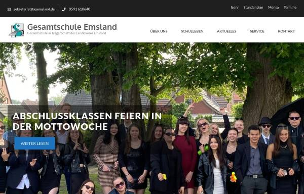 Vorschau von www.gesamtschule-emsland.de, Gesamtschule Emsland