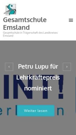 Vorschau der mobilen Webseite www.gesamtschule-emsland.de, Gesamtschule Emsland