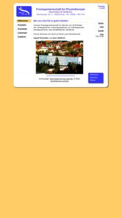 Vorschau der mobilen Webseite www.physio-suhl.de, Gemeinschaftspraxis für Physiotherapie GbR Gomolka / Hößrich