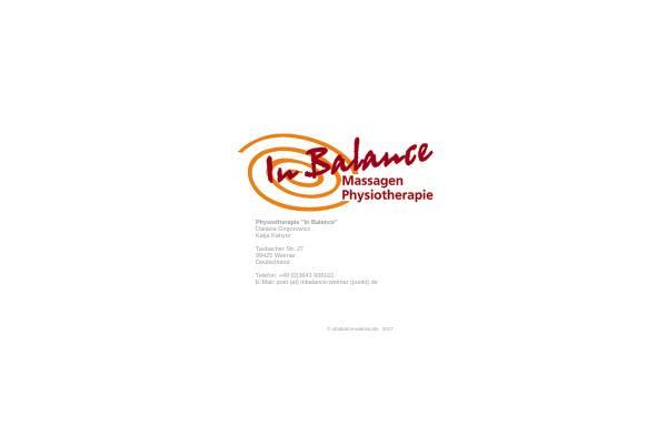 Vorschau von www.inbalance-weimar.de, InBalance Weimar