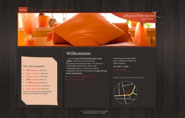 Vorschau von www.physio-katja-mueller.de, Physiotherapie Katja Müller