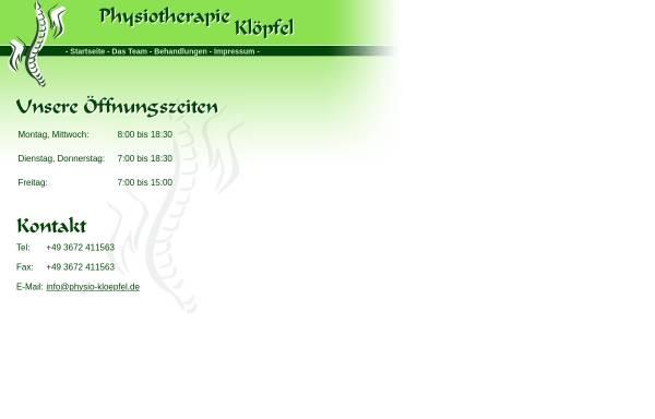 Vorschau von www.physio-kloepfel.de, Physiotherapie Klöpfel
