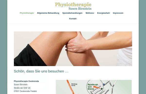 Vorschau von www.susen-birnstein-physiotherapie.de, Physiotherapie Susen Birnstein