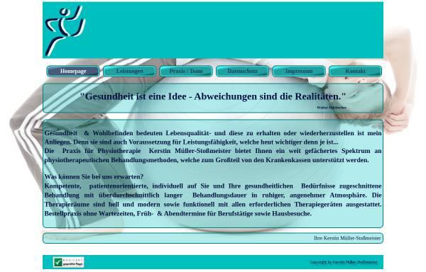 Vorschau von www.physiotherapie-plus.de, Praxis für Physiotherapie Kerstin Müller