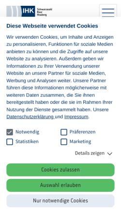 Vorschau der mobilen Webseite www.schwarzwald-baar-heuberg.ihk.de, IHK Schwarzwald-Baar-Heuberg