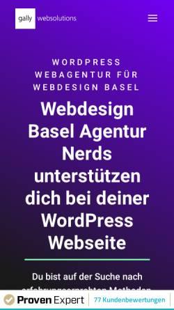 Vorschau der mobilen Webseite www.gally-websolutions.com, Gally Websolutions GmbH