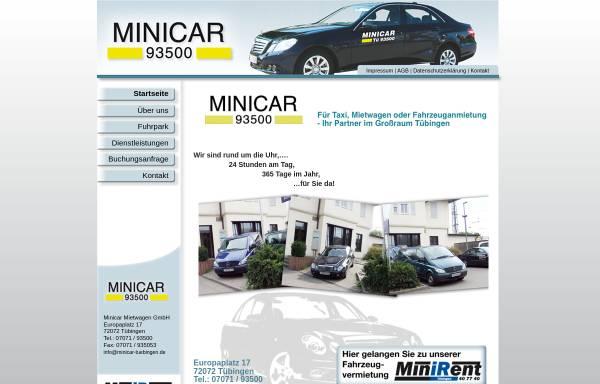 Vorschau von www.minicar-tuebingen.de, Minicar Mietwagen GmbH
