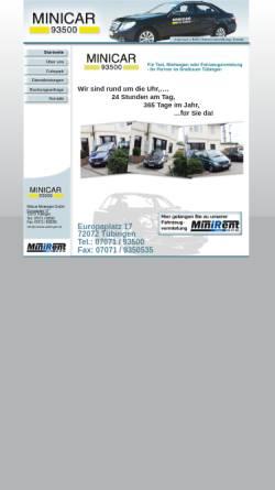 Vorschau der mobilen Webseite www.minicar-tuebingen.de, Minicar Mietwagen GmbH