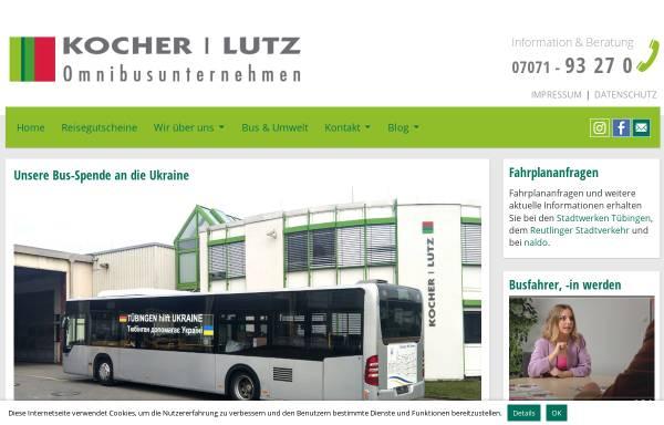 Vorschau von www.omnibuskocher.de, Omnibusverkehr Tübingen - Jakob Kocher GmbH