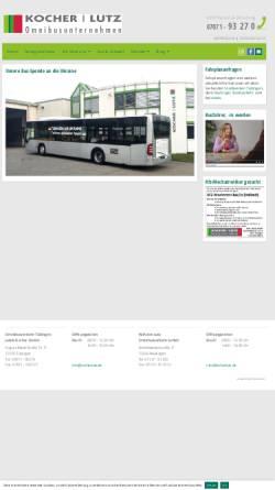 Vorschau der mobilen Webseite www.omnibuskocher.de, Omnibusverkehr Tübingen - Jakob Kocher GmbH