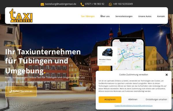 Vorschau von www.tuebingentaxi.de, TuebingenTaxi.de