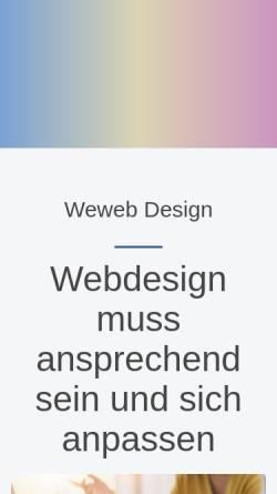 Vorschau der mobilen Webseite www.weweb.ch, Weweb design