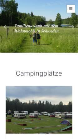 Vorschau der mobilen Webseite www.schwedencamper.de, Schwedencamper.de [Andreas Cornehl]