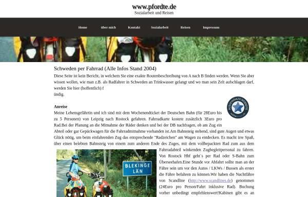 Vorschau von www.pfordte.de, Südschweden per Rad [Michael Pfordte]