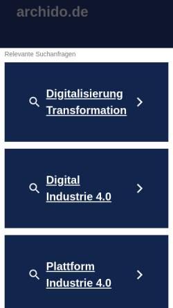Vorschau der mobilen Webseite www.archido.de, Archido - Archiv für Drogenliteratur