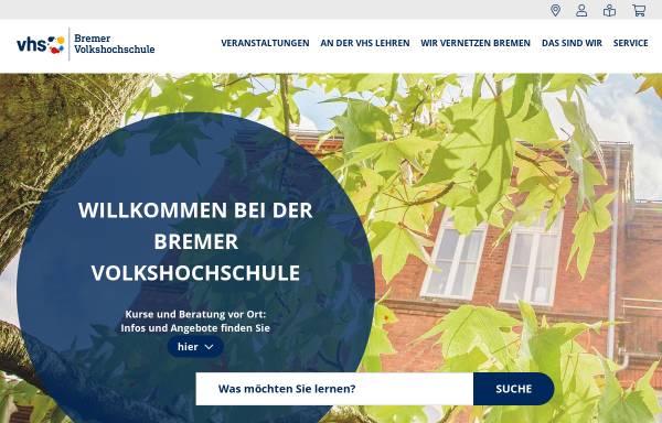 Vorschau von www.vhs-bremen.de, Bremer Volkshochschule