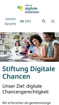 Vorschau der mobilen Webseite www.digitale-chancen.de, Netzwerk Digitale Chancen